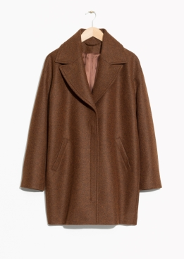 Brown wool coat at & Other Stories