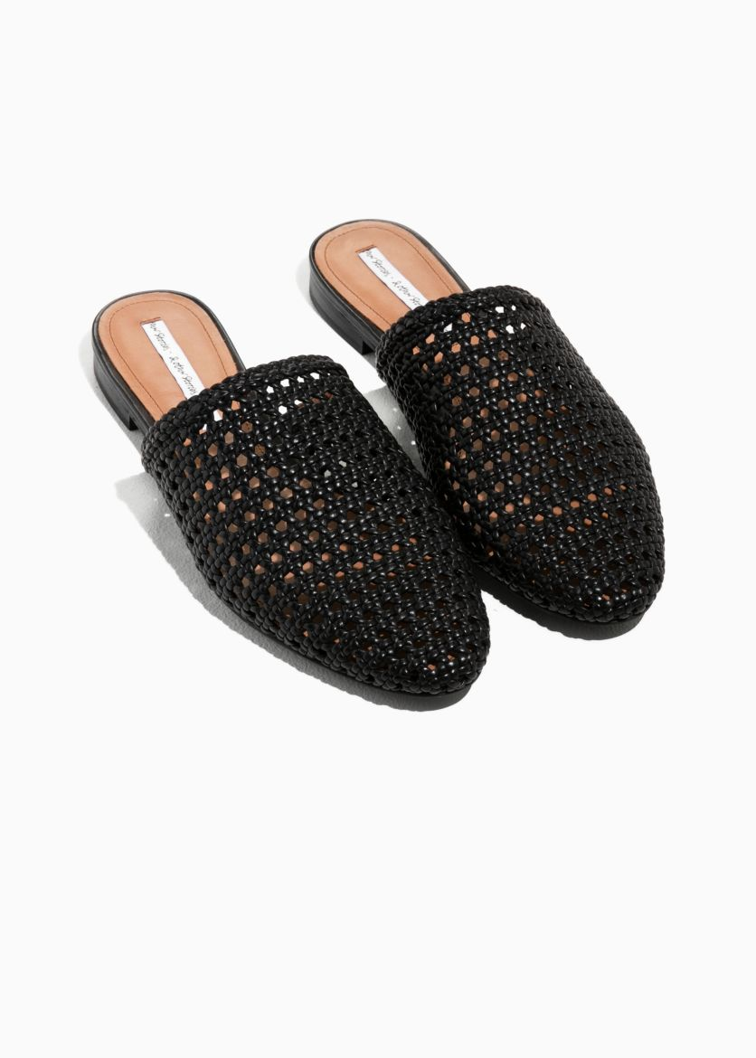 Braided leather slippers at & Other Stories